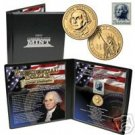 24K Gold Plated Presidential Coin & Stamp Set G Washing
