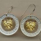 "C-126ERSS Polish 5 zlotych (Eagle) ""brass"" Earrings"