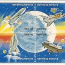 US Block of 18 cents SPACE ACHIEVEMENT 8 MNH STAMPS