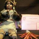"Indian Girl ""Moon-Dancer"" Porcelain Doll - New"