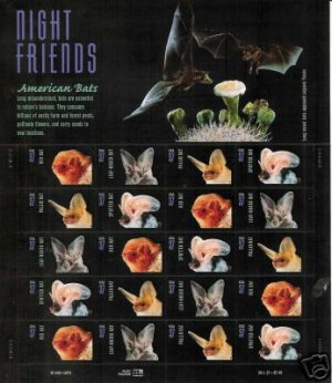 #3661-64 AMERICAN BATS  SHEET MINT