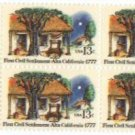 US Stamp Block Settlement at Alta California .13 MNH
