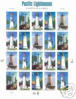 US #4146-50 Pacific Lighthouses Sheet 0f 20 MNH 2007