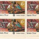 US Stamp Block US SALEM POOR.13c MNH  #1560