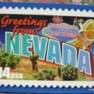 "Brand New ""GREETINGS FROM NEVADA"" stamped card US"