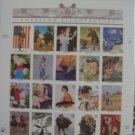 #3502 Full Mint Sheet AMERICAN ILLUSTRATORS - 2001