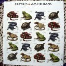 US Mint Sheet of 20 REPTILES AND AMPHIBIANS Stamps
