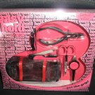 EASY HOLD MANICURE KIT by TRIM - 6 PIECE HOT PINK - PERFECT FOR TRAVEL - NEW!