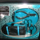 EASY HOLD MANICURE KIT by TRIM - 6 PIECE TEAL - PERFECT FOR TRAVEL - NEW!