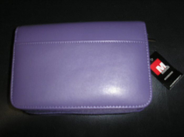 MUNDI FAUX HIDE DOUBLE ZIPPERED AGENDA-CALCULATOR,PEN,RULER,CALENDAR,ID HOLDER,KEYCHAIN & MORE-NEW!