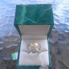 SUZANNE SOMERS STERLING PEARL and RHINESTONE RING - SIZE 9 - NEW!