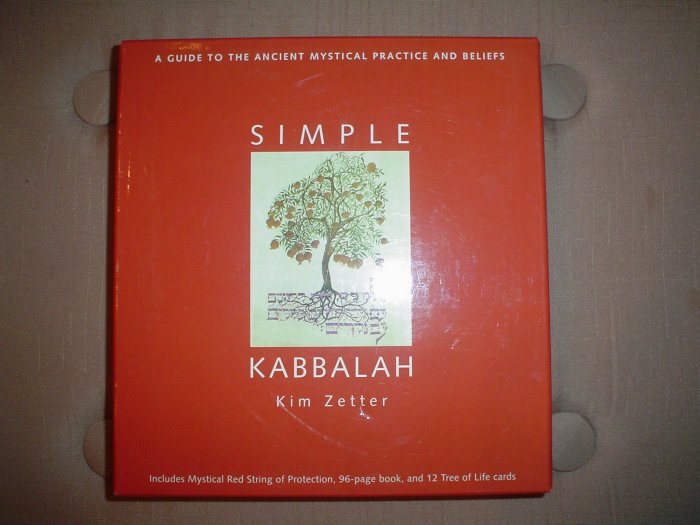 SIMPLE KABBALAH (A GUIDE TO THE ANCIENT MYSTICAL PRACTICE AND BELIEFS)-BOX SET by KIM ZETTER- NEW!