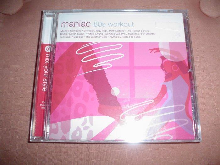 MANIAC 80'S WORKOUT - BILLY IDOL/IGGY POP/VARIOUS ARTISTS - BRAND NEW IN SHRINKWRAP!