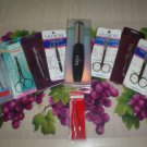 LOT OF 12 PERSONAL CARE IMPLEMENTS - SCISSORS, TWEEZERS, CALLUS SMOOTHER and MORE - NEW!