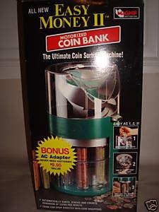 EASY MONEY II MOTORIZED COIN SORTING BANK - BRAND NEW!
