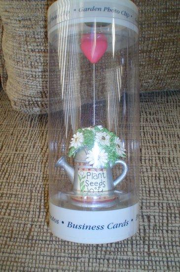 "BURNES OF BOSTON ""GARDEN PHOTO CLIP"" - ""PLANT SEEDS OF JOY"" designed by SUSAN WINGETS!"