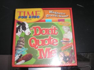 DON'T QUOTE ME - TIME FOR KIDS MAGNETIC TRAVEL GAME - WIGGLES THREE-D!
