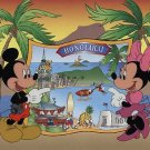 "DISNEY ""MICKEY AND MINNIE IN HONOLULU'' LMTD ED FRAMED SERICEL OVER LITHOGRAPH BACKGROUND-BRAND NEW!"