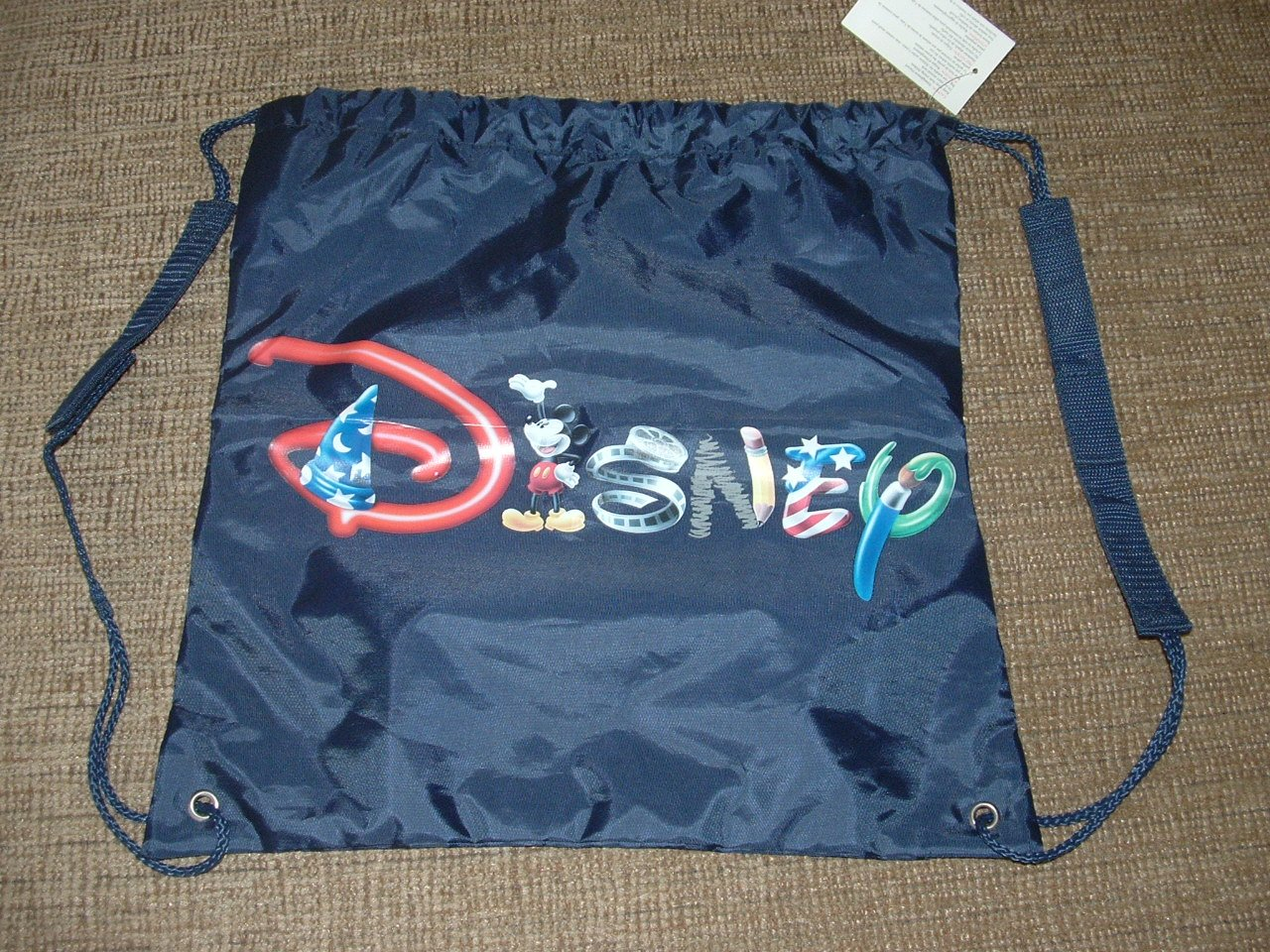 DISNEY FANTASIA MERLIN MICKEY MOUSE DRAWSTRING LIGHTWEIGHT BACKPACK/SACK - BRAND NEW!