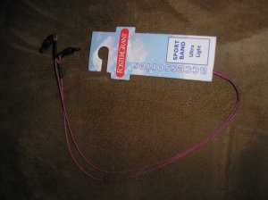FOSTER GRANT SPORT BAND EYEGLASS/SUNGLASS HOLDER - ULTRA LIGHT  - MAUVE - BRAND NEW!