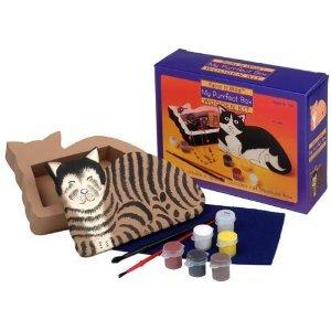 PAINT IT WILD MY PURRFECT WOODEN CAT TREASURE BOX KIT by BALITONO - BEST TOY AWARD - BRAND NEW!