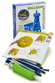 BALLOON ARCHITECTURE KIT by LARRY MOSS - CONSTRUCT THE WORLD'S 10 COOLEST BUILDINGS - BRAND NEW!