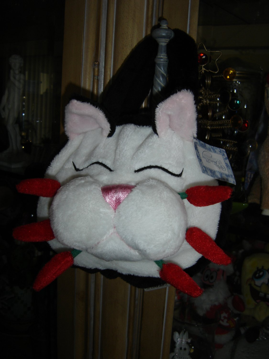 """WHIMSICLAY """"CHILI"""" PLUSH HANDBAG/PURSE by Amy LaCombe - #389CH CAT  - BRAND NEW with TAG!"""
