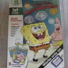 LeapPad PlusWriting SpongeBob SquarePants Brainy Briny Math Games with 2 Game Books & Cartridge-NEW!