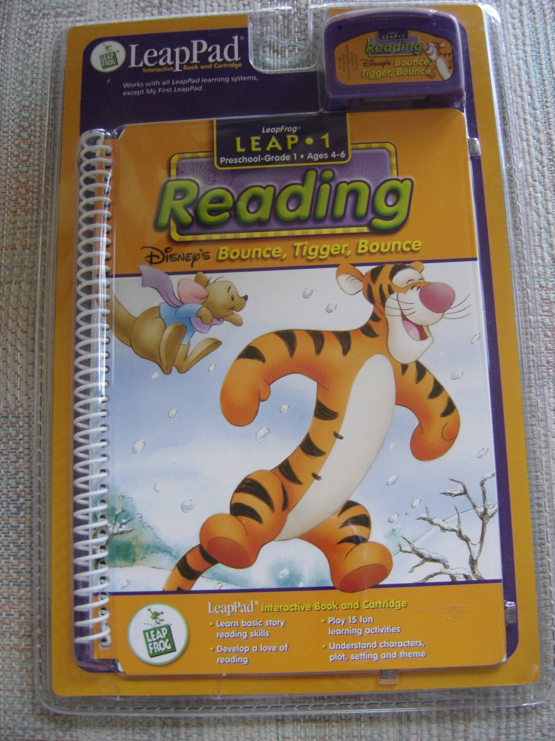 first grade leappad book  bounce  tigger  bounce by