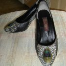 COMECO PEACOCK/PHEASANT FEATHER SHOES/PUMPS - SIZE 7.5 - NEW - RARE!
