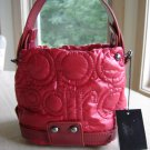 "AUTHENTIC ROCCOBAROCCO TOP HANDLE RED ""PILLOW"" EMBOSSED BAG with MATCHING WALLET - NEW WITH TAGS!"