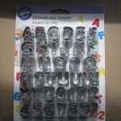 WILTON FONDANT ALPHABET & NUMBER COOKIE CUTTER CUT-OUTS - SET OF 37 PIECES - BRAND NEW!