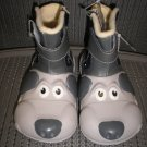 "POLLIWALKS KIDS ""TOYS FOR FEET"" PUPPY ZIPPER BOOTS with LEATHER UPPER - SIZE 8 - BRAND NEW!"