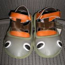 "POLLIWALKS KIDS ""TOYS FOR FEET"" TREE FROG FISHERMAN SHOE with LEATHER UPPER - SIZE 8 - BRAND NEW!"