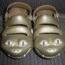 """POLLIWALKS KIDS """"TOYS FOR FEET"""" GREEN SNAKE SLIP ON SHOES - SIZE 8 - BRAND NEW!"""