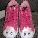 "POLLIWALKS KIDS ""TOYS FOR FEET"" PINK SUEDE HI TOP SNEAKER/SHOE - SIZE 8 - BRAND NEW!"