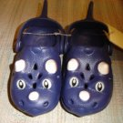 "POLLIWALKS KIDS ""TOYS FOR FEET"" DINOSAUR NAVY/WHITE SLIP ONS - SIZE 8 - BRAND NEW!"