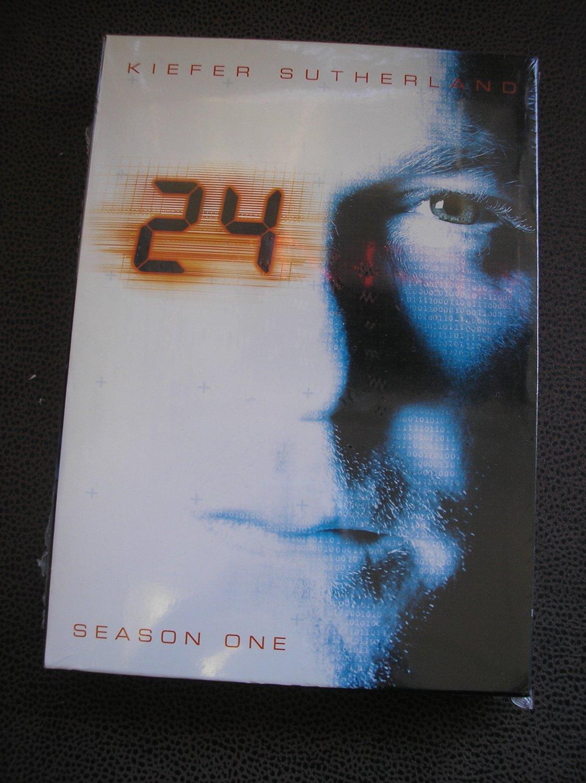 24:SEASON ONE DVD SET-Kiefer Sutherland & Dennis Haysbert-6 DVD's-24 EPISODES-FACTORY SHRINKWRAPPED!