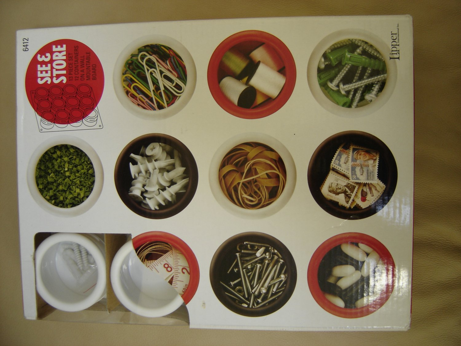 Lipper See & Store Magnetic Spice Container 12 piece set by Lipper International!