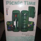 PICNIC TIME ESTATE GREEN DELUXE WINE TOTE with THERMOGUARD INSULATION!