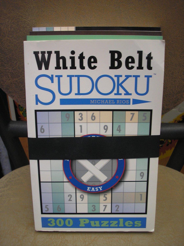 SUDOKU 4 VOLUME SET - BLACK BELT, WHITE BELT, GREEN BELT, BROWN BELT by Michael Rios!