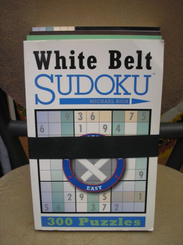 SUDOKU 4 VOLUME SET - BLACK BELT, WHITE BELT, GREEN BELT, BROWN BELT by Michael Rios!