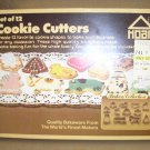 "VINTAGE 1984 HOAN ""BAKER'S COLLECTION"" SET OF 12 COOKIE CUTTERS - NIB!"