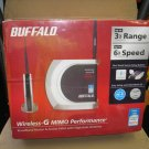 Buffalo AirStation WHR-HP-G54 Wireless-G MIMO Router - NEW IN FACTORY SHRINKWRAP!