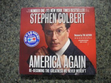America Again: Re-becoming the Greatness We Never Weren't (Audio CD) by Stephen Colbert!
