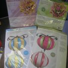 PAPER FLOWER and PAPER BALL CRAFT KITS from GERMANY - LOT OF 4!