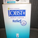 JOBST Medical LegWear Relief Knee High Socks 20-30 mmHg Medium Black Open-Toe 1 Pair!