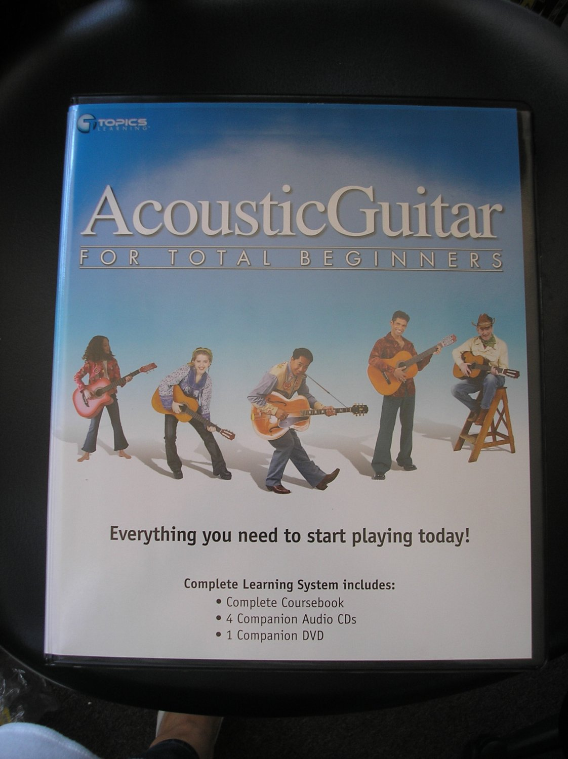 ACOUSTIC GUITAR for TOTAL BEGINNERS 4 CD's/1 DVD & WORKBOOK by Topics Learning
