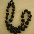 "HAWAIIAN BLACK KUKUI NUTS ""FLYING LIZARD"" NECKLACE/LEI - CHUNKY BEADS!"