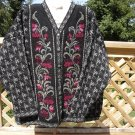 CHERRY LEWIS PINK/RED FLORAL PLUS SIZE 100% WOOL CARDIGAN-SIZE 2X-EXTRA BUTTON & TAGS STILL ATACHED!